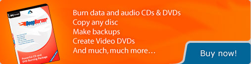 DeepBurner - Powerful CD and DVD Burning Package